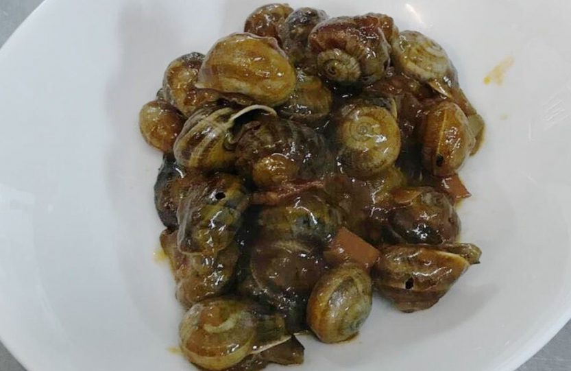 Snails stewed mountain style